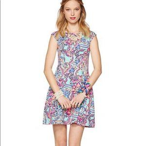 Lilly Pulitzer Briella Dress in Aqua Bait & Switch